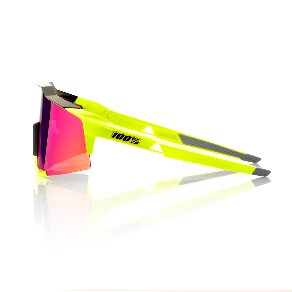 SPEEDCRAFT – Polished Black / Fluorescent Yellow – Purple Multilayer Mirror Lens