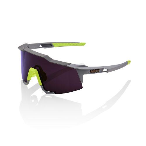 100/% Percent Cycling Sunglasses Speedcraft Polished Translucent Grey Silver Lens