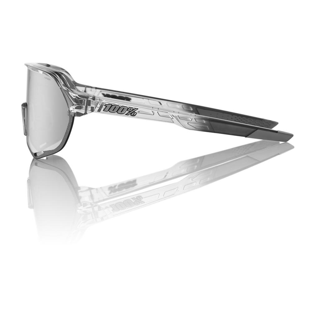 S2 – Shiny Transluscent Crystal Grey – HiPER Sport Silver Mirror Lens