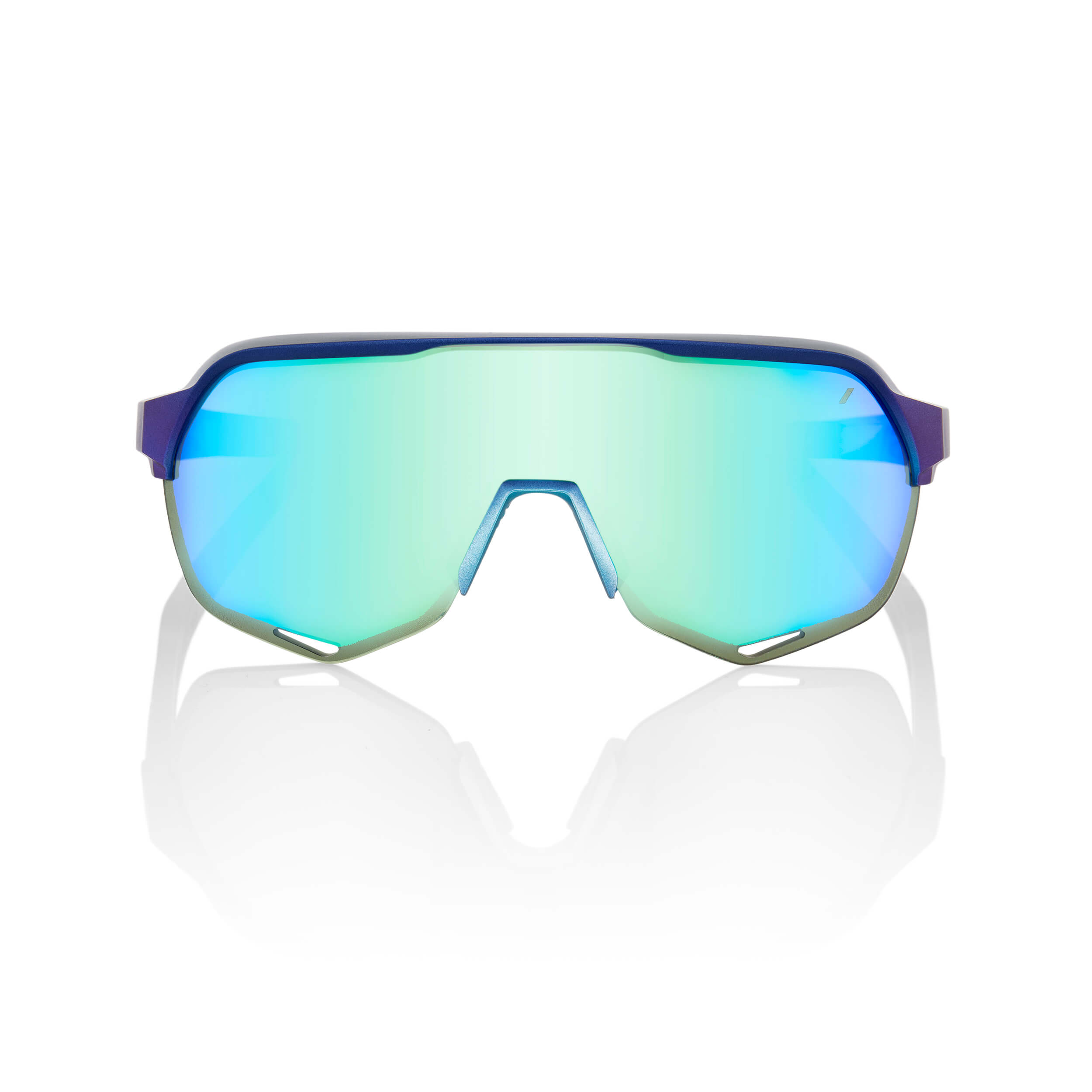 S2 – Matte Metallic Into the Fade – Blue Topaz Multilayer Mirror Lens