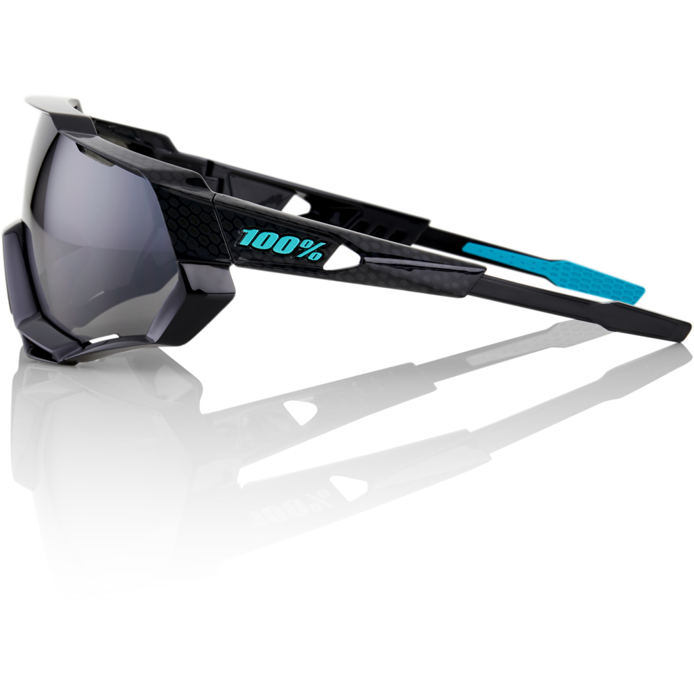 SPEEDTRAP – Polished Black Graphic – Black Mirror Lens