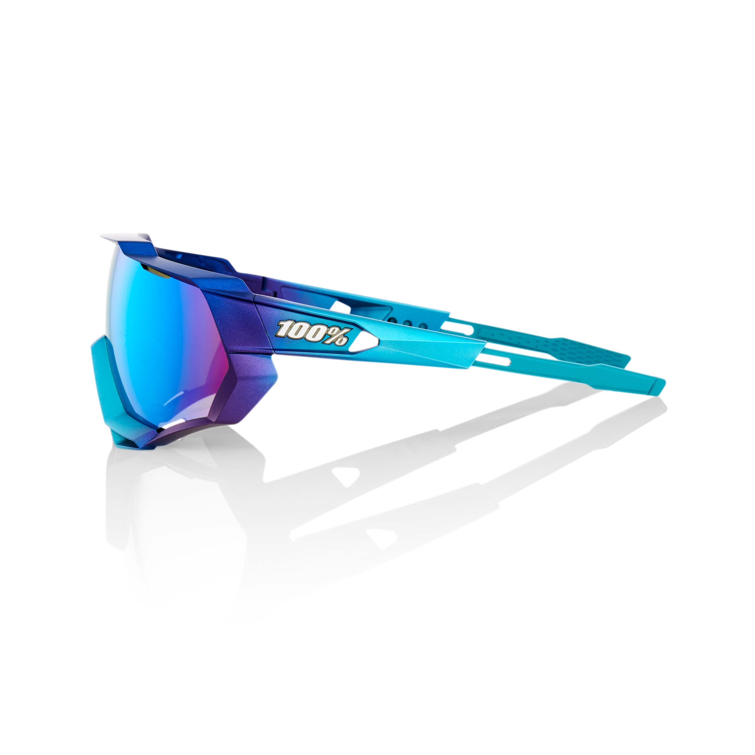 SPEEDTRAP – Matte Metallic Into the Fade – Blue Topaz Multilayer Mirror Lens