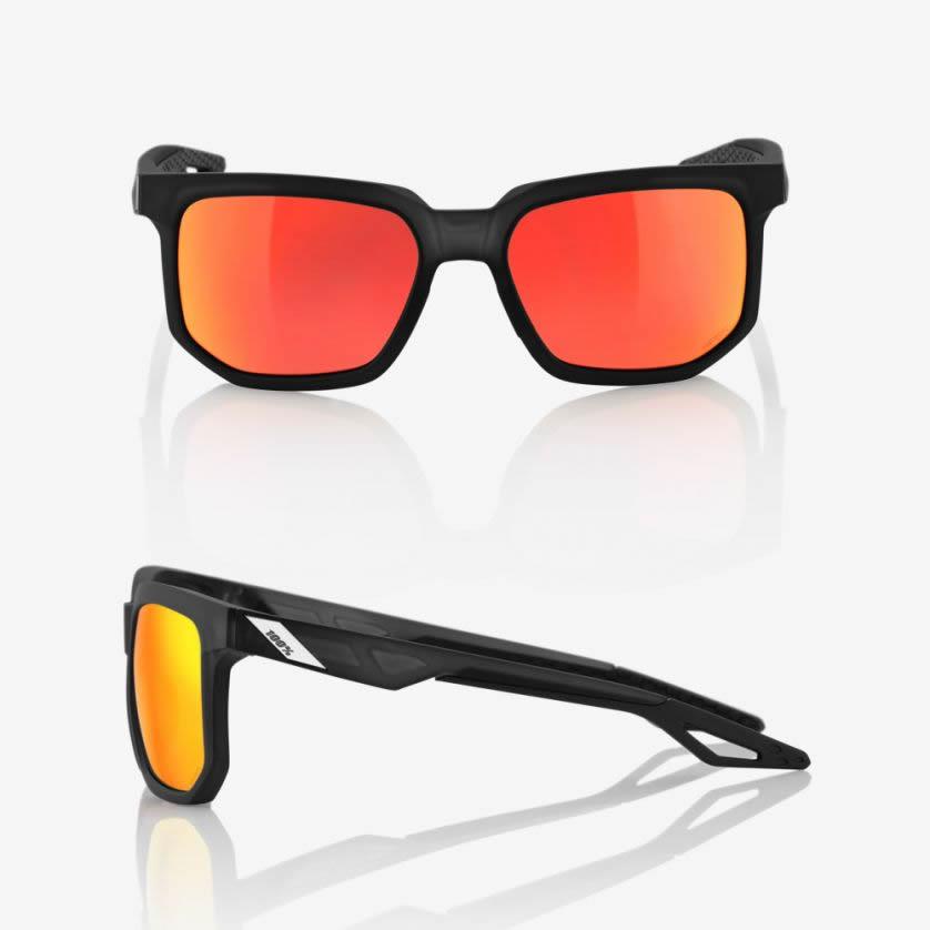 CENTRIC – Matte Crystal Black / Red – HiPER Red Multilayer Mirror Lens
