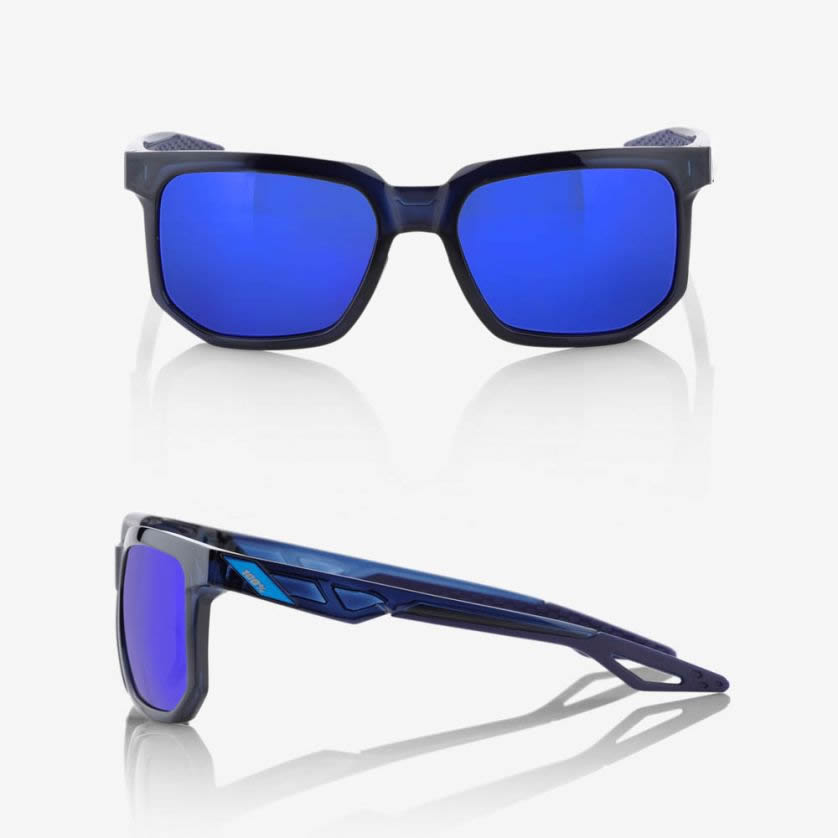 CENTRIC – Polished Transluscent Blue / Blue – Electric Blue Mirror Lens