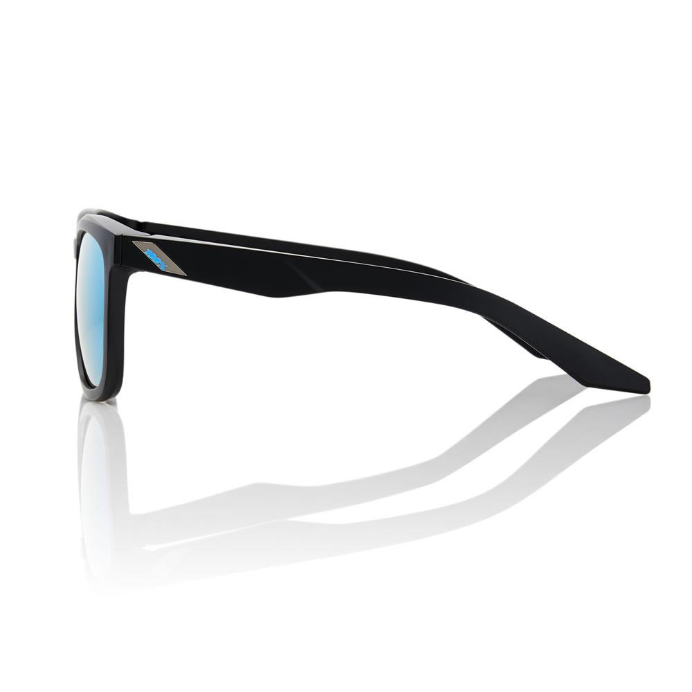HUDSON – Matte Black – HiPER Iceberg Blue Mirror Lens