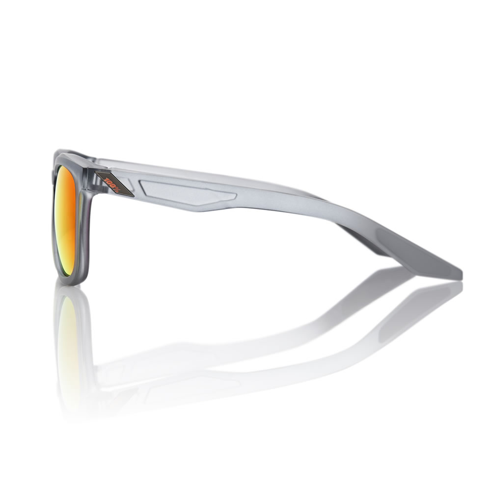 HUDSON – Matte Transluscent Crystal Grey – HiPER Red Multilayer Mirror Lens