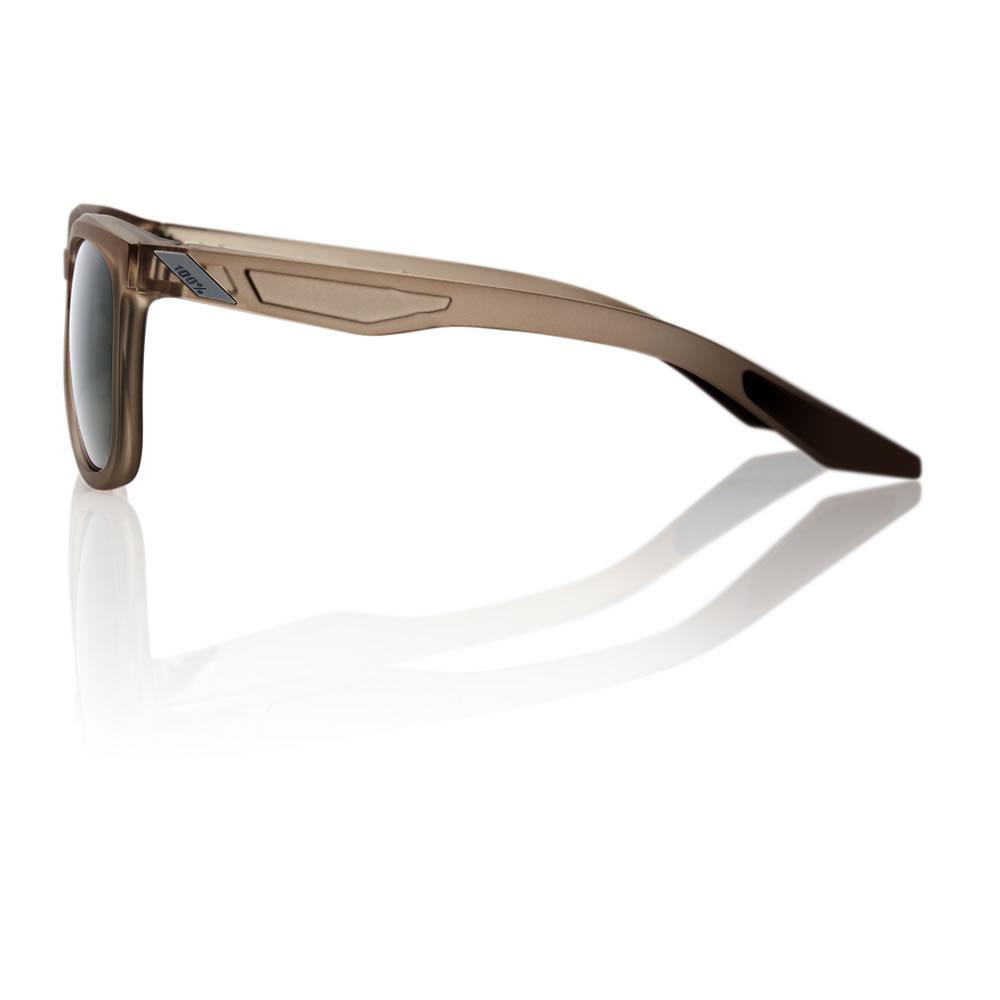 HUDSON – Matte Transluscent Crystal Sepia – Grey Green Lens