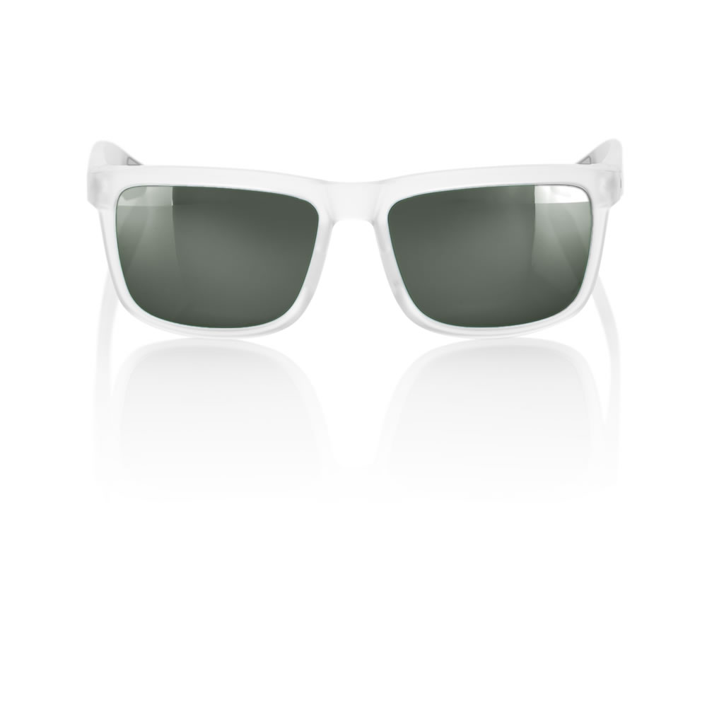 BLAKE – Matte transluscent Crystal Clear – Grey Green Lens