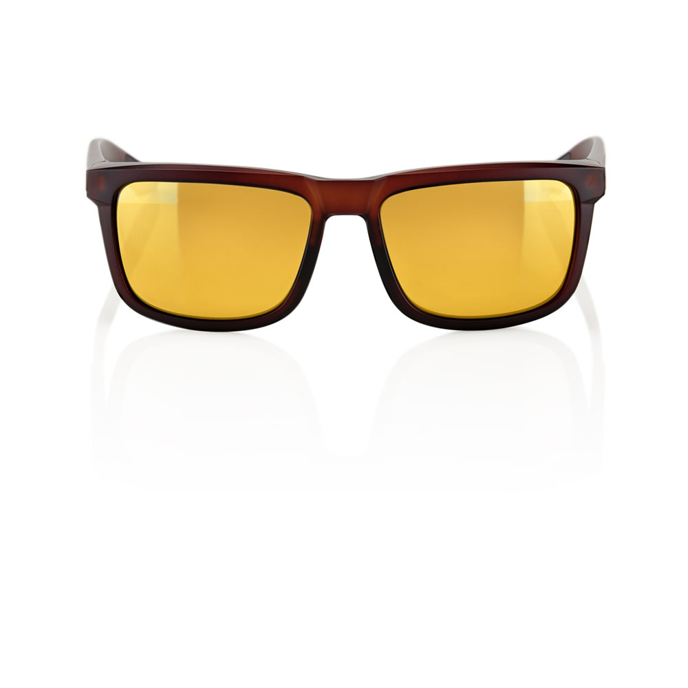BLAKE – Matte Rootbeer – Flash Gold Lens