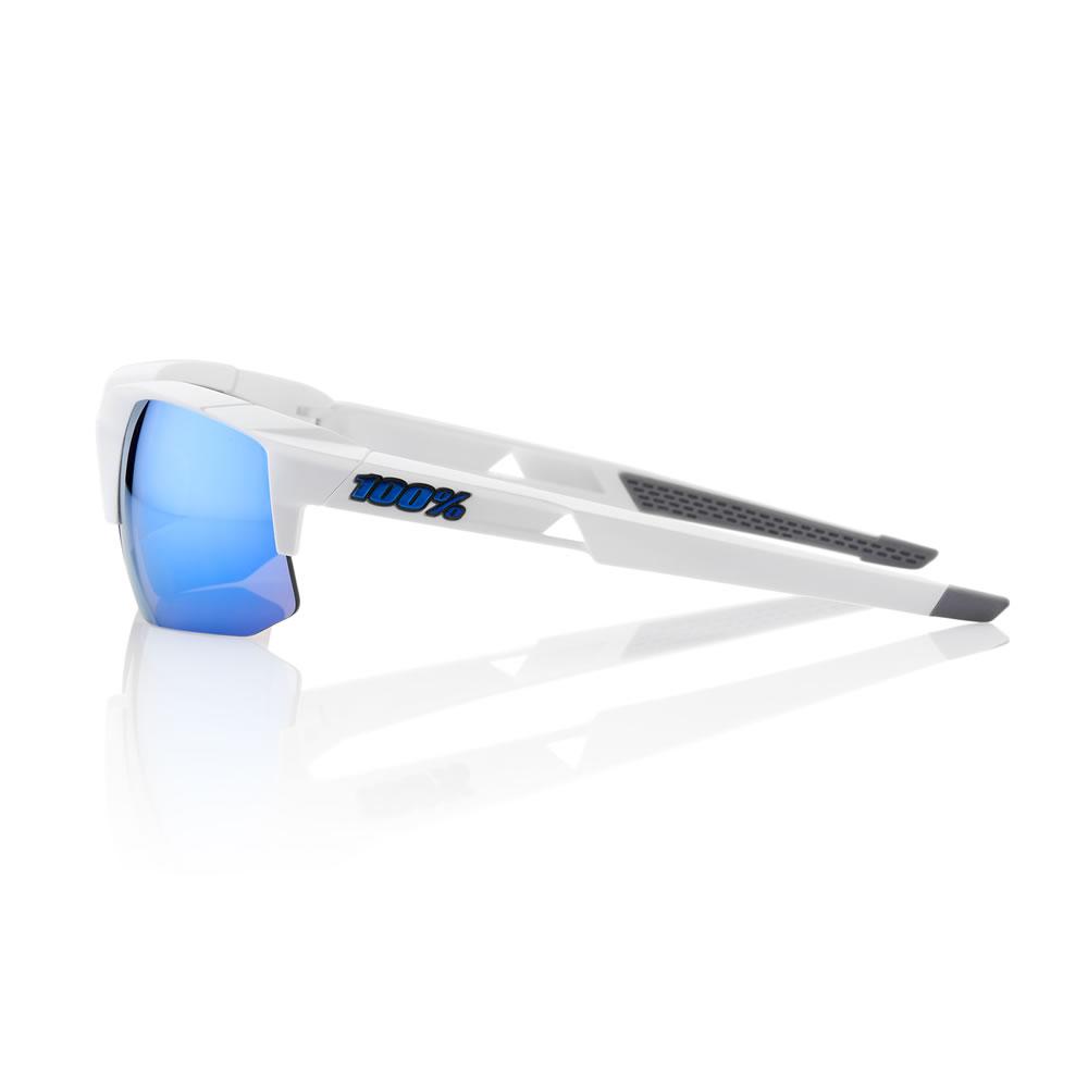 SPEEDCOUPE – Matte White – HiPER Iceberg Blue Mirror Lens