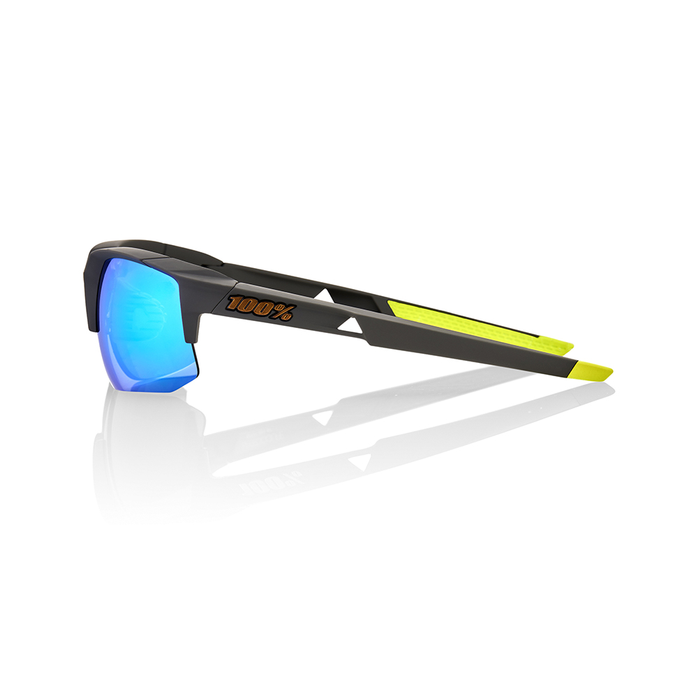 SPEEDCOUPE – Soft Tact Cool Grey – Green Multilayer Mirror Lens