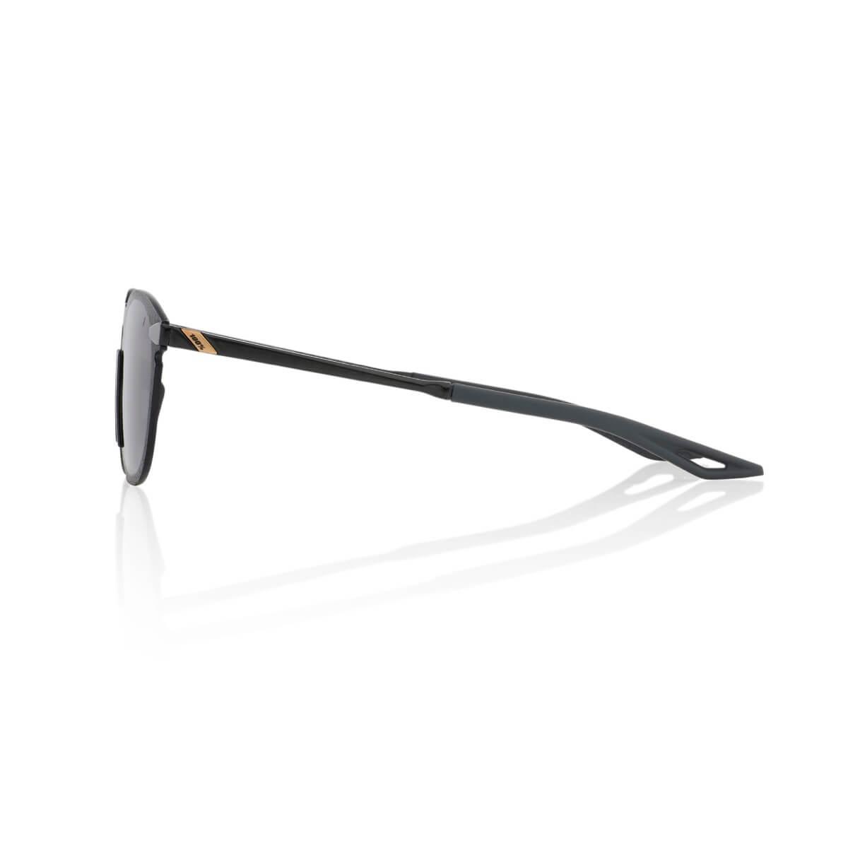LEGERE Round – Polished Black – Smoke Lens