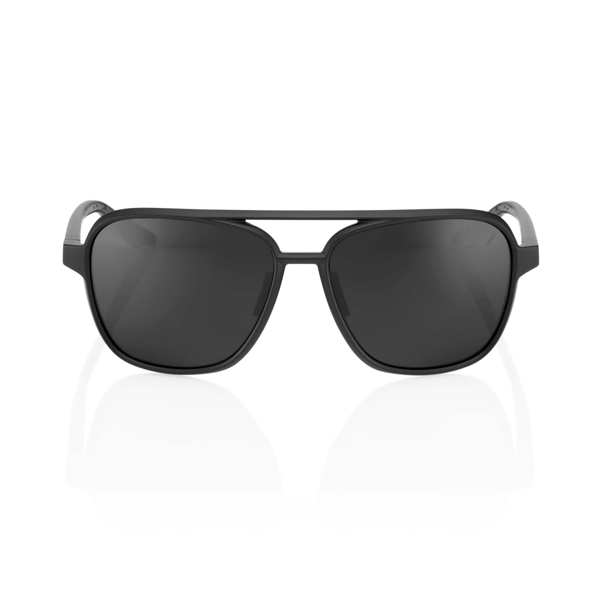 KASIA Aviator Round – Matte Black – Black Mirror Lens