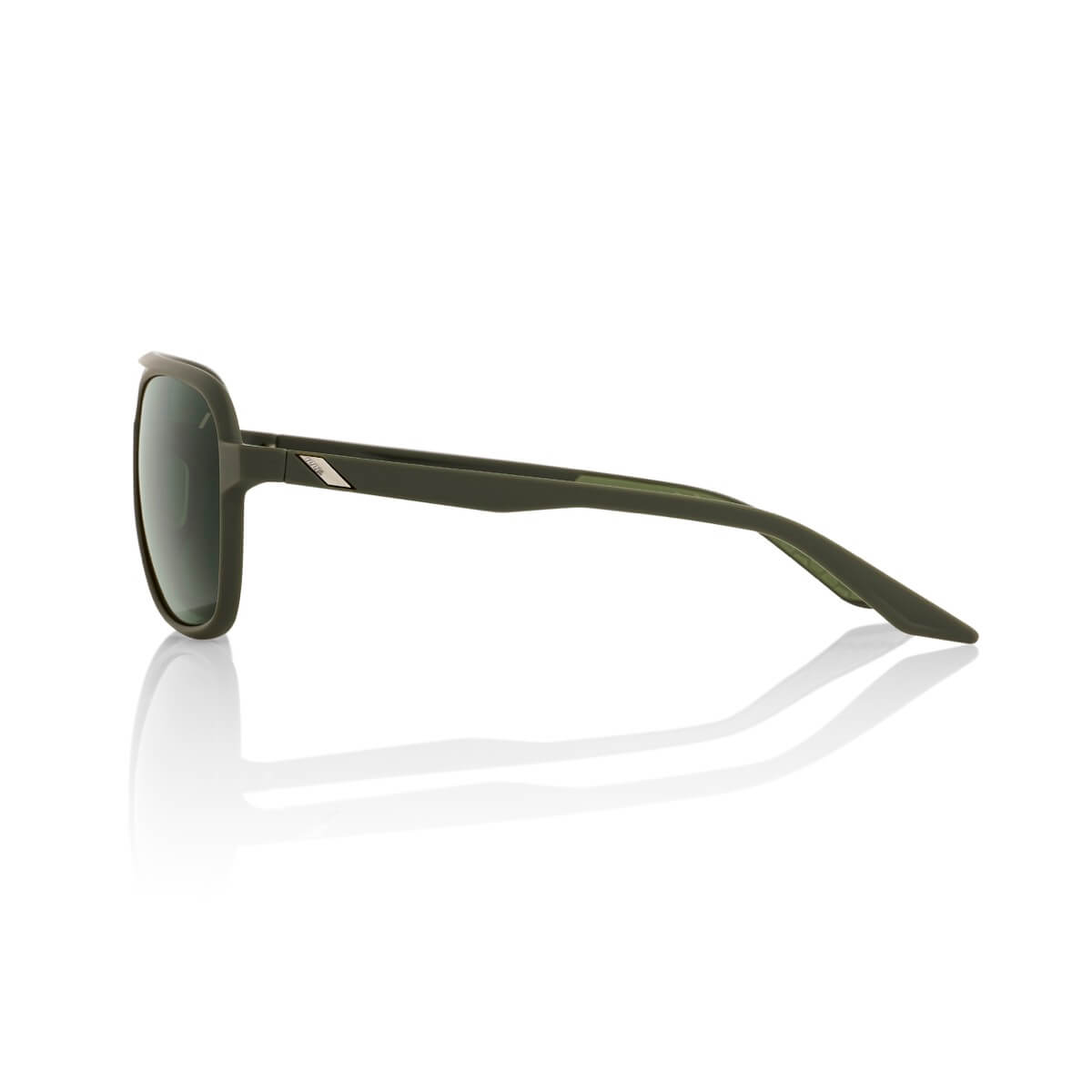 KASIA Aviator Round – Soft Tact Army Green – Grey Green Lens