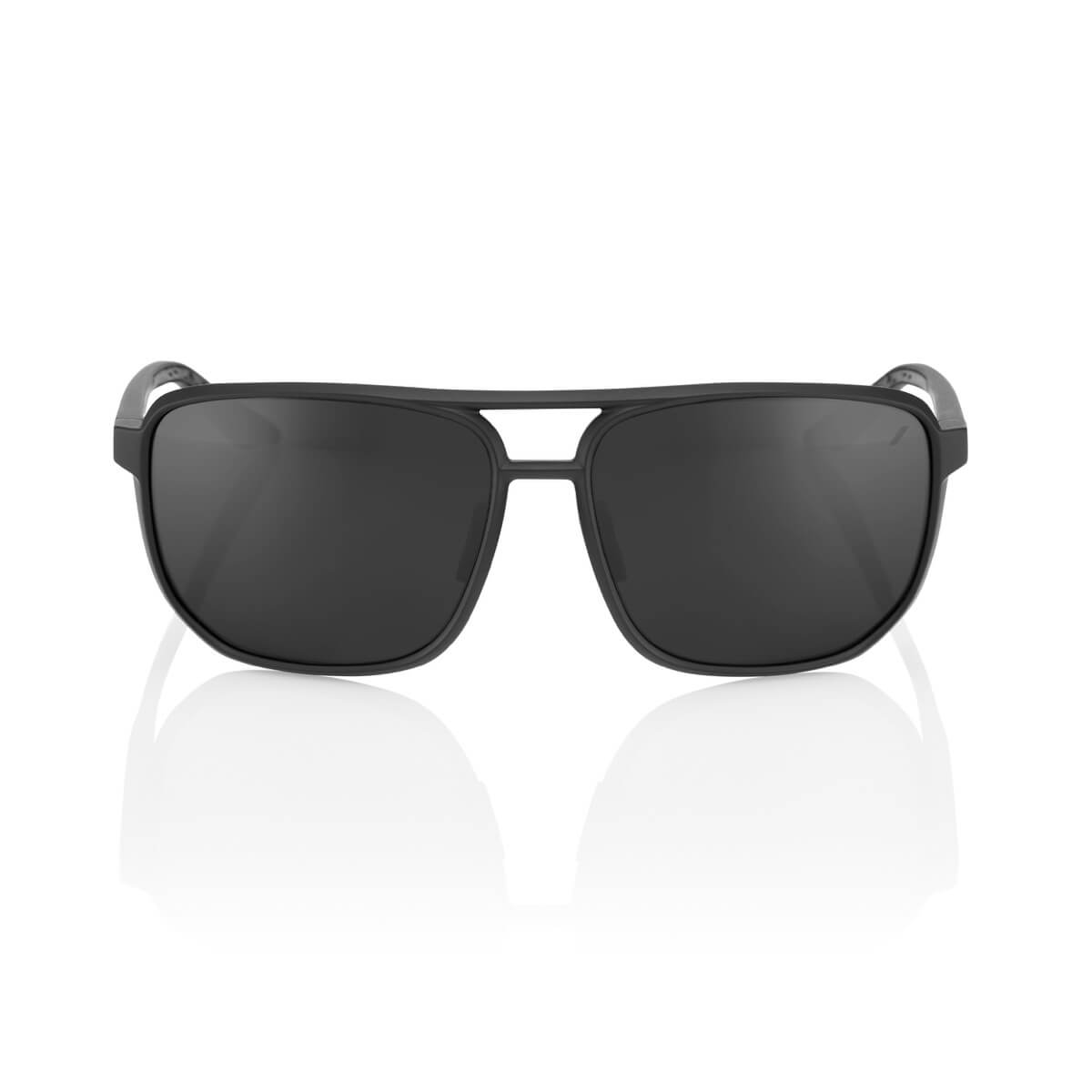 KONNOR Aviator Square – Matte Black – Black Mirror Lens