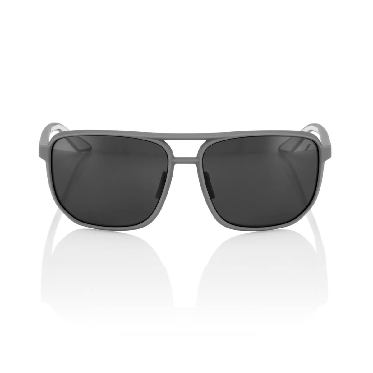 KONNOR Aviator Square – Soft Tact Dark Haze – Smoke Lens
